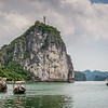 Titove island on halong bay
