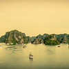 Panorama of Halong Bay.