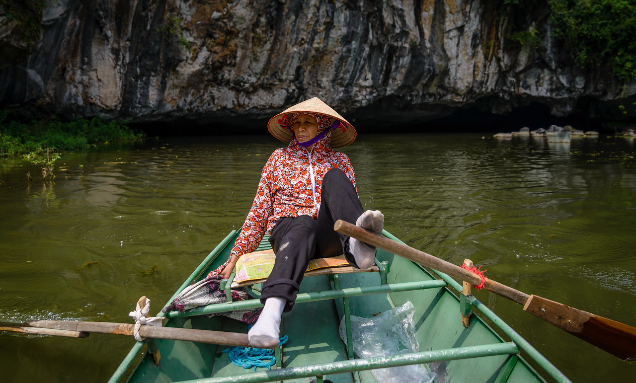 My guide and captain in Tam Coc