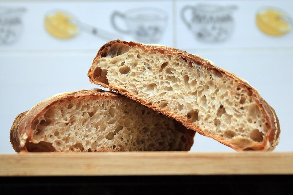 Freshly baked sourdough bread