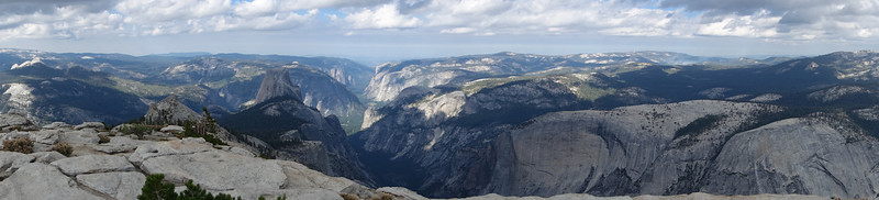 Half Dome, and the Valley