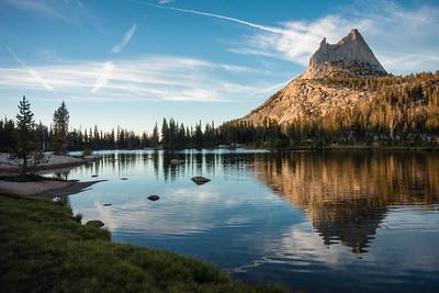 Cathedral Lake, sunset