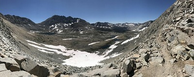 Panorama of the approach to Mather Pass.
