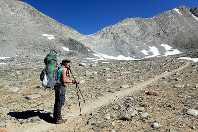 The low point in the ridge ahead is Mather Pass. Photo by Chuck Haak.