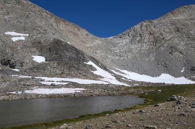 Small glacial tarn below Mather Pass.