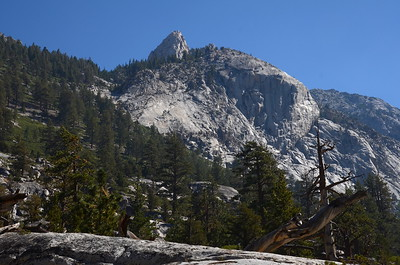 The trail has now turned toward the north, heading up LeConte Canyon.