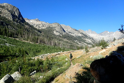 Heading on down Palisade Canyon. Photo by Chuck Haak.