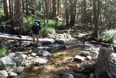 Creek crossing. Photo by Chuck Haak.