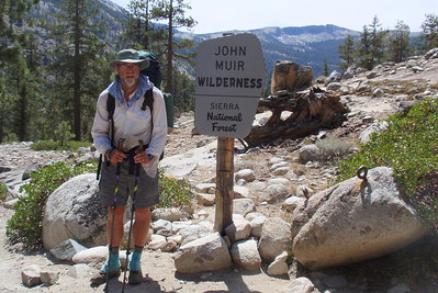 After a week of hiking in Kings Canyon National Park, we are now crossing into the John Muir Wilderness. Photo by Jill Haak.