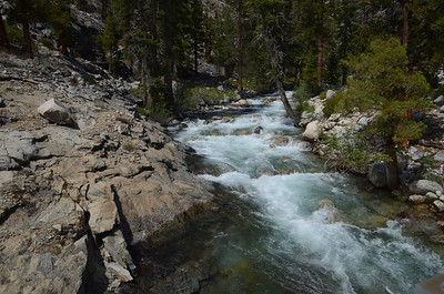 Piute Creek upstream from the bridge.