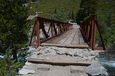 This bridge is just downstream from where Evolution Creek joins the South Fork San Joaquin River.