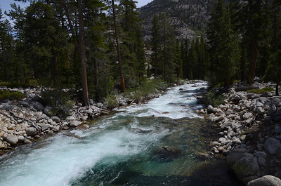 Piute Creek rushing headlong to join the South Fork San Joaquin River.