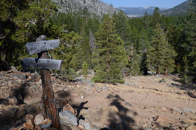 The switchbacks up from Muir Trail Ranch. Right about here, I realized I had left one of my stuff sacks in the hiker area below and had to trudge down and back up the switchbacks. AARRGGHH!!!