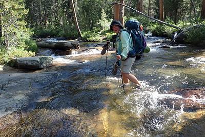 Creek crossings are FUN!! Photo by Chuck Haak.
