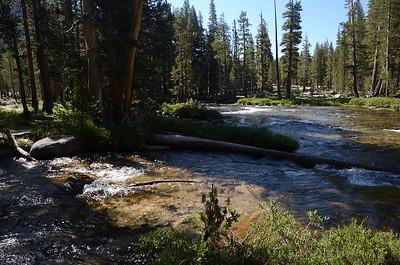The side creek we had just crossed flowing into Bear Creek.