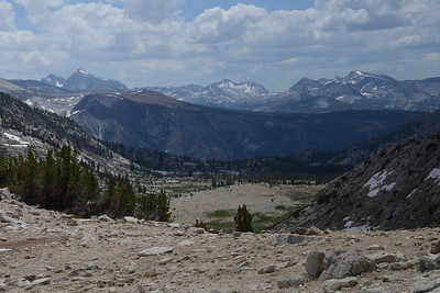 The view to the south from Silver Pass.
