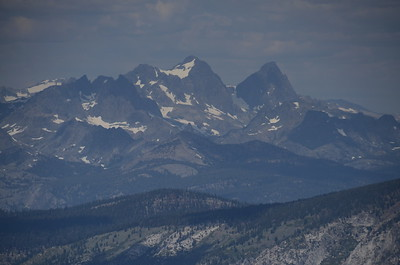 Zooming in on Mount Ritter and Banner Peak from Silver Pass.
