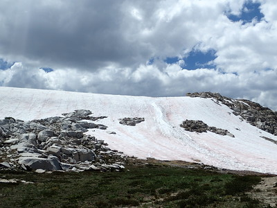 Snowfield on the north side of Silver Pass. Photo by Chuck Haak.