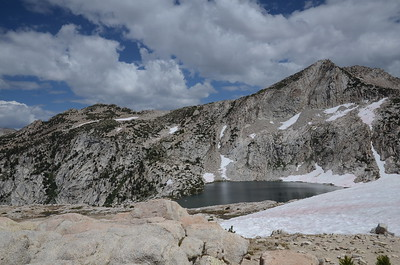 The view to the east from Silver Pass - Warrior Lake.