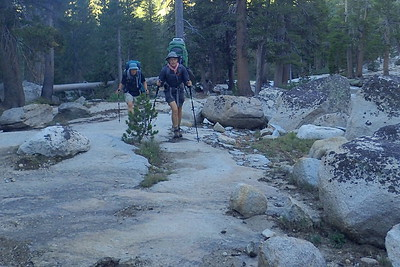 Climbing toward Silver Pass. Photo by Chuck Haak.