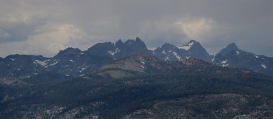 The Minarets, Mount Ritter, and Banner Peak.