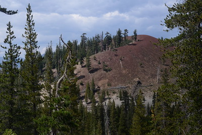 The is one of a pair of cinder cones called Red Cones.