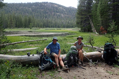 Snack stop at Johnston Meadow. Photo by Chuck Haak.