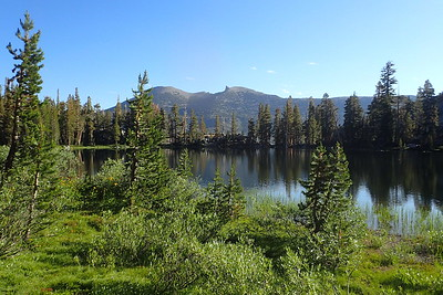 Gladys Lake. The mountain in the background is called Two Teats. Photo by Chuck Haak.