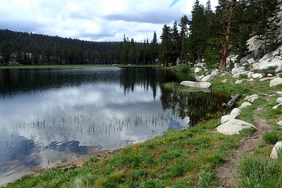Rock Creek Lake. This is where we had intended to camp on our first night but didn't quite make it due to the downpour the previous evening. Photo by Chuck Haak.