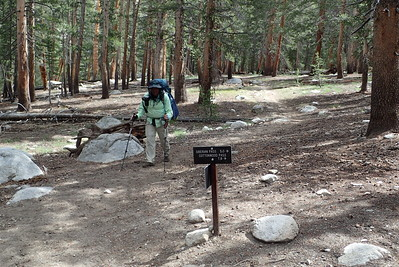 Rejoining the Pacific Crest Trail after our detour to Soldier Lake. Photo by Chuck Haak.