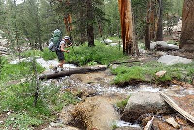 Crossing Guyot Creek. Photo by Chuck Haak.