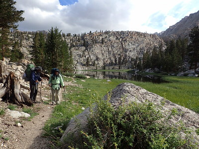After arriving at Soldier Lake, we realized that this was not the direction we needed to go. I was glad I was able to see Soldier Lake, though. Photo by Chuck Haak.