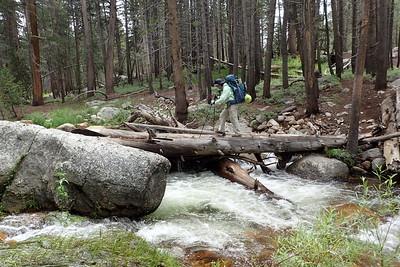 Crossing Rock Creek. Photo by Chuck Haak.