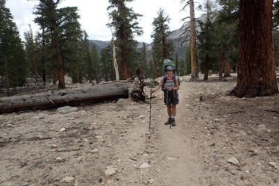 Heading up toward Guyot Pass. Photo by Chuck Haak.