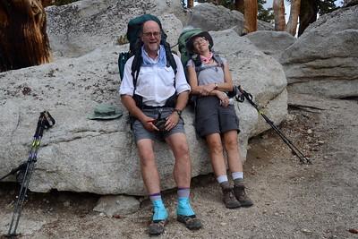 Chuck and Jill on Guyot Pass.