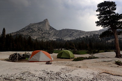 Our campsite at Lower Cathedral Lake. Photo by Chuck Haak.