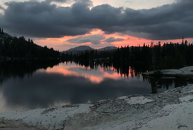 Lower Cathedral Lake sunset.