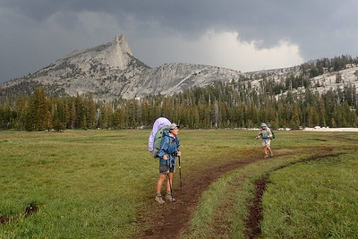 Almost to our campsite at Lower Cathedral Lake. Photo by Chuck Haak.