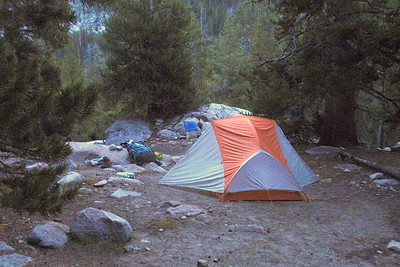 My tent at our campsite near Kuna Creek in Lyell Canyon. Photo by Jill Haak.