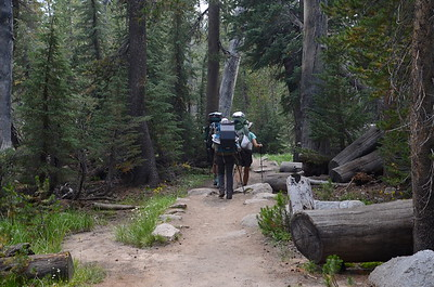 After a fun break at Tuolume Meadows, we heading off for Lower Cathedral Lake, joined by Becky.