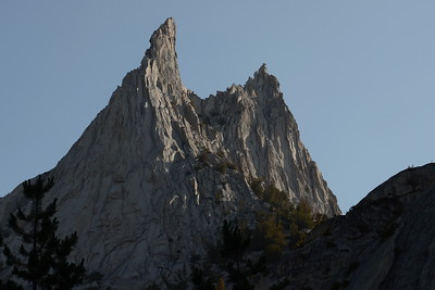 Views of Cathedral Peak's jagged spires would stay with us well into our hike today.