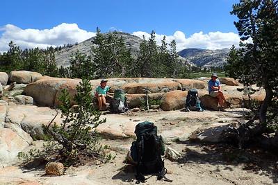 Lunch break near Sunrise High Sierra Camp. Photo by Chuck Haak.
