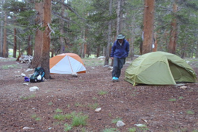 Our campsite at Crabtree Meadow. Photo by Jill Haak.
