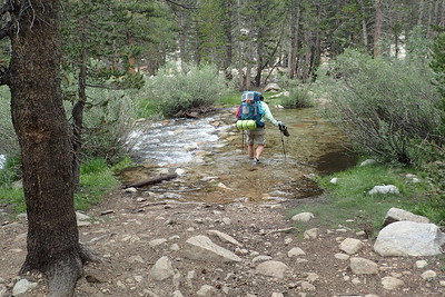 Me crossing Wallace Creek. Photo by Chuck Haak.