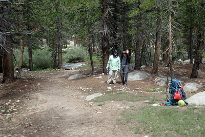 We stopped for a little break before crossing Wallace Creek. Photo by Chuck Haak.