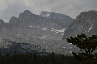 The view back towards Mt. Whitney (center).