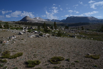 """On the trail toward Forester Pass, our first """"big"""" pass of the hike."""