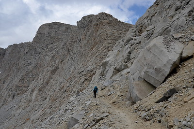 The chute directly below the pass is just around the corner!