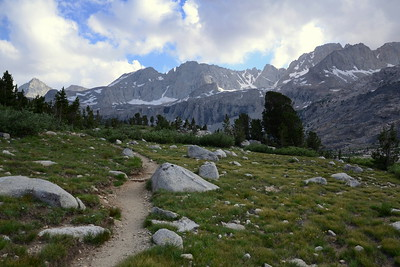 On the homestretch down to our campsite at Upper Vidette Meadow.