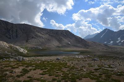 Nameless lake at the base of Diamond Mesa.